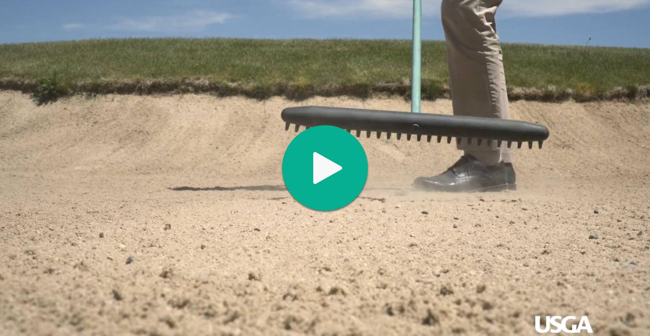 how to rake a bunker